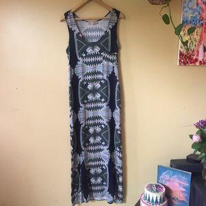 Mara Hoffman Feather Maxi Dress M